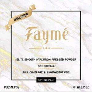 แป้ง FAYME-F01. IVORY, สีขาวชมพู